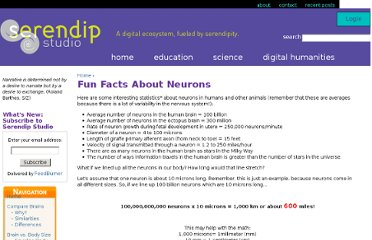 http://serendip.brynmawr.edu/exchange/brains/neuron/funfacts