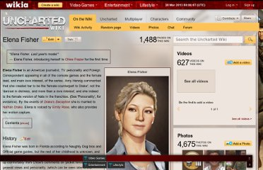 http://uncharted.wikia.com/wiki/Elena_Fisher