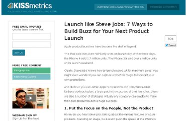 http://blog.kissmetrics.com/product-launch-strategies/