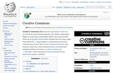 http://fr.wikipedia.org/wiki/Creative_Commons