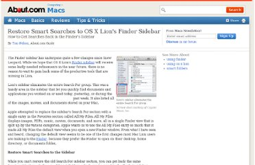 http://macs.about.com/od/LionTipsNtricks/qt/Restore-Smart-Searches-To-Os-X-Lions-Finder-Sidebar.htm