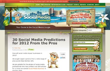 http://www.socialmediaexaminer.com/30-social-media-predictions-for-2012-from-the-pros/