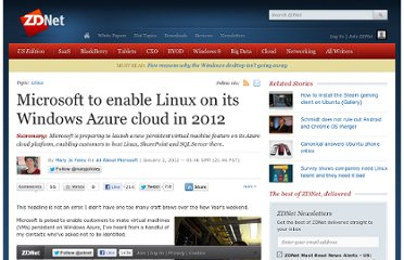 http://www.zdnet.com/blog/microsoft/microsoft-to-enable-linux-on-its-windows-azure-cloud-in-2012/11508