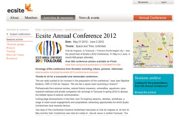 http://www.ecsite.eu/activities_and_resources/annual_conferences/ecsite-annual-conference-2012