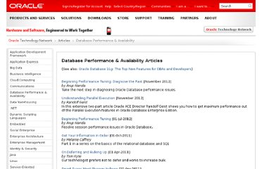 http://www.oracle.com/technetwork/articles/database-performance/index.html