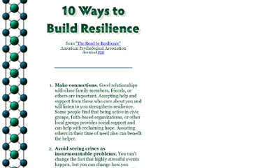 http://www.appleseeds.org/10-Ways-Build-Resilience_APA.htm