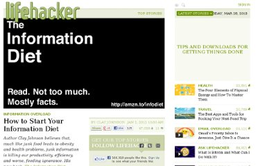 http://lifehacker.com/5872436/how-to-start-your-information-diet