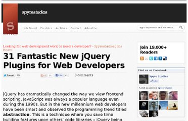 http://spyrestudios.com/31-fantastic-new-jquery-plugins-for-web-developers/