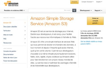 http://aws.amazon.com/fr/s3/#pricing