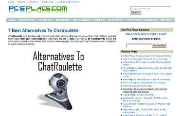 http://pcsplace.com/tech-list/7-best-alternatives-to-chatroulette/