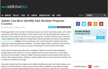 http://www.addictivetips.com/windows-tips/soluto-can-now-identify-and-resolve-program-crashes/