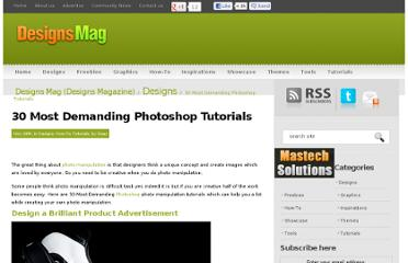 http://www.designsmag.com/2010/11/30-most-demanding-photoshop-tutorials/