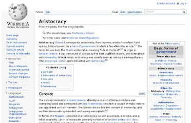 http://en.wikipedia.org/wiki/Aristocracy
