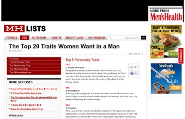 http://www.menshealth.com/mhlists/most_desirable_traits/Top_5_Personality_Traits.php