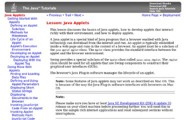 http://docs.oracle.com/javase/tutorial/deployment/applet/