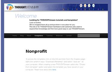 http://thoughtstreamtools.com/templates-page/nonprofit/