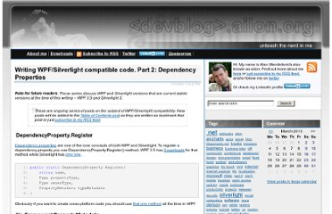 http://devblog.ailon.org/devblog/post/2009/11/05/Writing-WPFSilverlight-compatible-code-Part-2-Dependecy-Properties.aspx