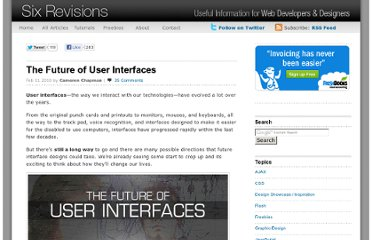 http://sixrevisions.com/user-interface/the-future-of-user-interfaces/