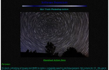 http://www.schursastrophotography.com/software/photoshop/startrails.html