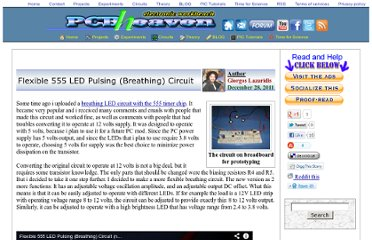 http://www.pcbheaven.com/userpages/Flexible_555_LED_Pulsing_Circuit/