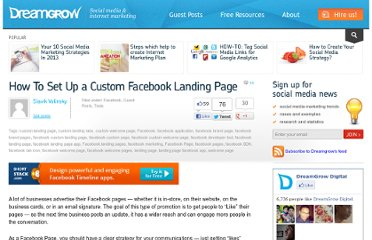 http://www.dreamgrow.com/how-to-set-up-a-custom-facebook-landing-page/
