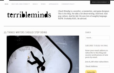 http://terribleminds.com/ramble/2012/01/03/25-things-writers-should-stop-doing/