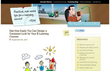 http://www.articulate.com/rapid-elearning/see-how-easily-you-can-design-a-consistent-look-for-your-e-learning-courses/