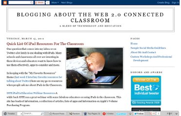 http://blog.web20classroom.org/2011/03/quick-list-of-ipad-resources-for.html