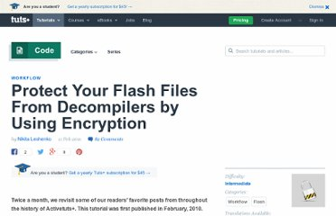 http://active.tutsplus.com/tutorials/workflow/protect-your-flash-files-from-decompilers-by-using-encryption/