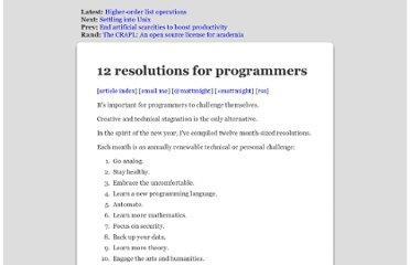http://matt.might.net/articles/programmers-resolutions/