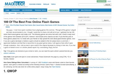 http://blog.mad4flash.com/2011/10/top-100-free-games/