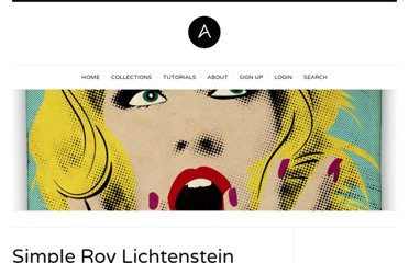 http://abduzeedo.com/simple-roy-lichtenstein-style-illustrator-and-photoshop