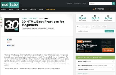 http://net.tutsplus.com/tutorials/html-css-techniques/30-html-best-practices-for-beginners/