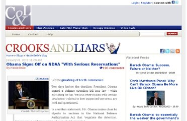 http://crooksandliars.com/nicole-belle/obama-signs-ndaa-serious-reservations