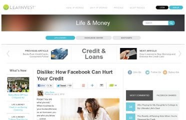 http://www.learnvest.com/2012/01/dislike-facebook-can-hurt-your-credit-score/
