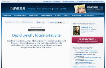 http://www.inrees.com/articles/David-Lynch-Totale-creativite/