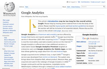http://en.wikipedia.org/wiki/Google_Analytics