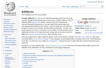http://en.wikipedia.org/wiki/AdWords