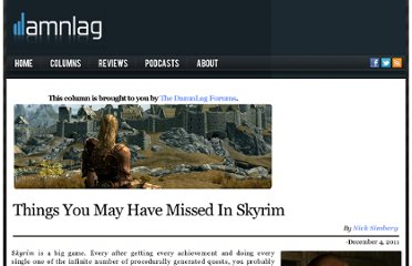 http://www.damnlag.com/things-you-may-have-missed-in-skyrim/