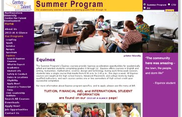http://www.ctd.northwestern.edu/summer/programs/equinox/