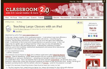 http://www.classroom20.com/profiles/blogs/teaching-large-classes-with-an-ipad