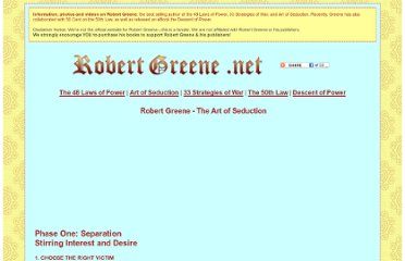 http://robertgreene.net/the-art-of-seduction.html