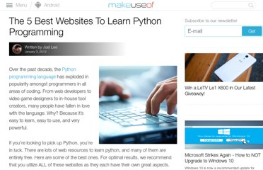 http://www.makeuseof.com/tag/5-websites-learn-python-programming/