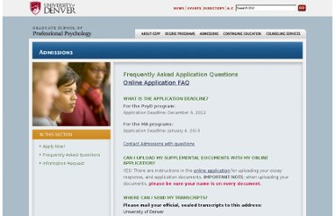 http://www.du.edu/gspp/admissions/application-faq.html