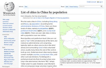 http://en.wikipedia.org/wiki/List_of_cities_in_the_People%27s_Republic_of_China_by_population