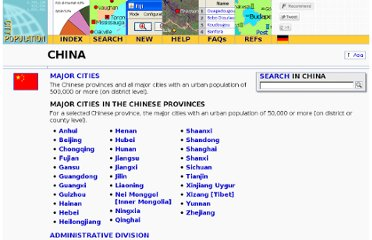 http://www.citypopulation.de/China.html