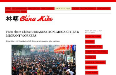 http://www.china-mike.com/facts-about-china/facts-urbanization-cities/