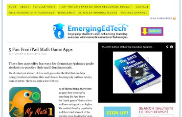 http://www.emergingedtech.com/2012/01/5-fun-free-ipad-math-game-apps/