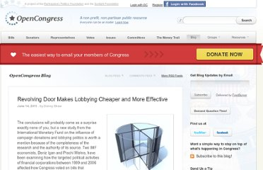 http://www.opencongress.org/articles/view/2319-Revolving-Door-Makes-Lobbying-Cheaper-and-More-Effective