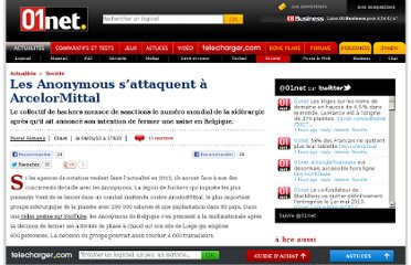 http://www.01net.com/editorial/551754/les-anonymous-s-attaquent-a-arcelormittal/